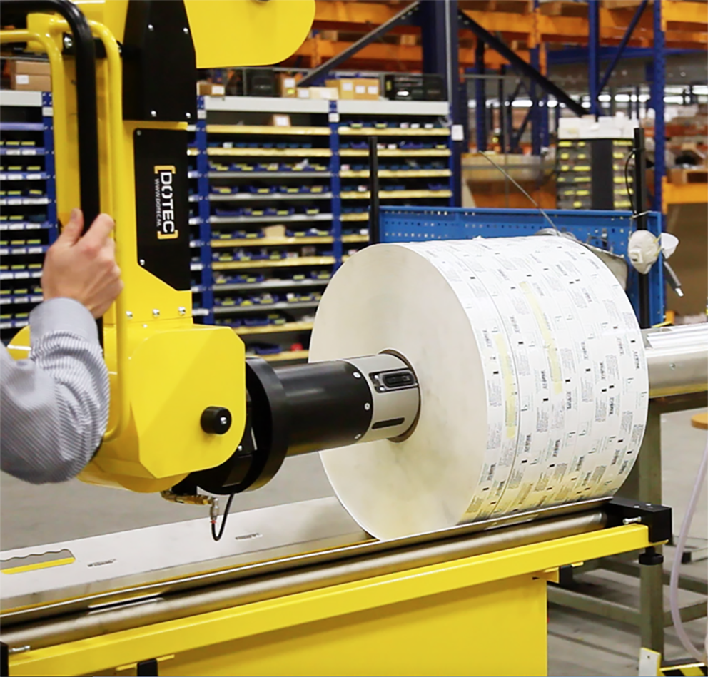 Roll handling solutions for Label & narrow web